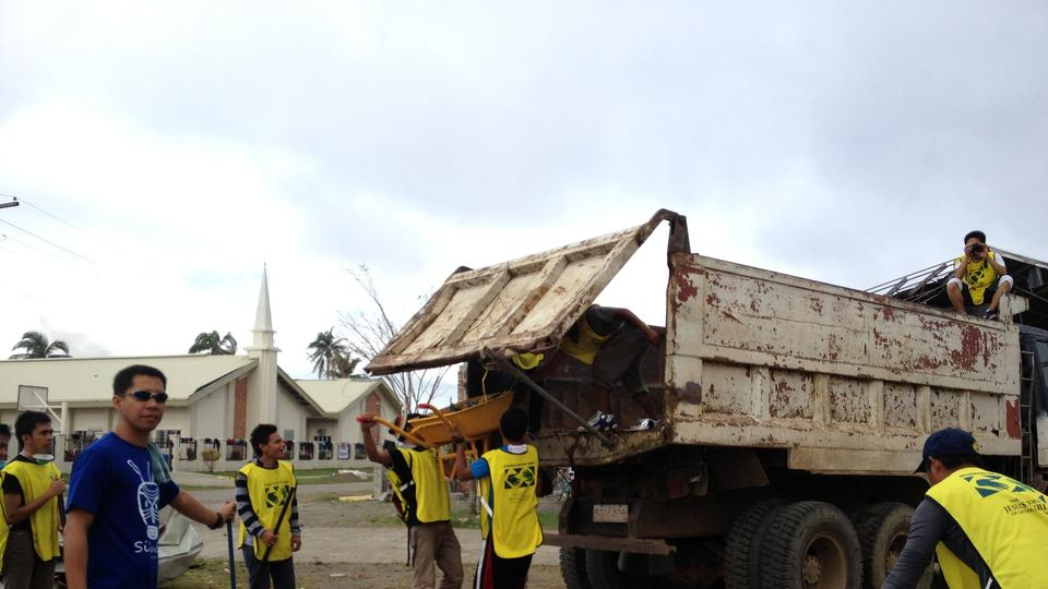 Pablo clean up at Monkayo Mormon church