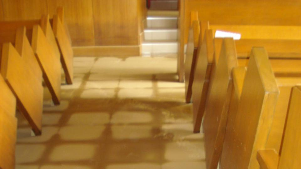 Provident Chapel flood waters recede.