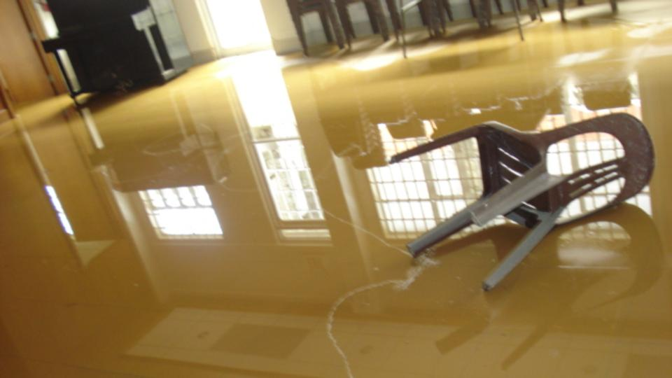 Provident Chapel flood waters recede