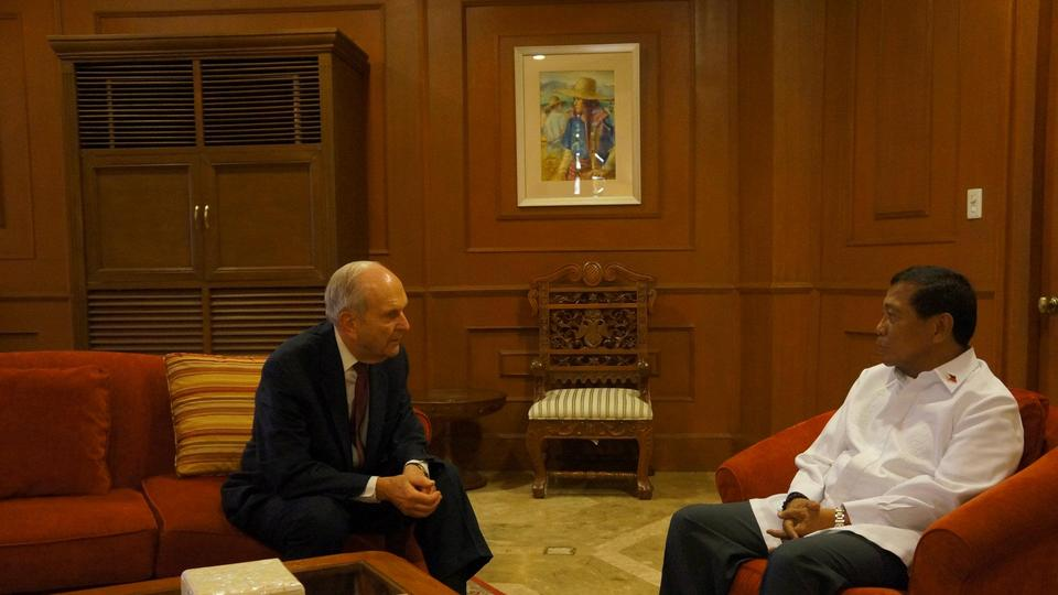 Elder Nelson visits VP Binay